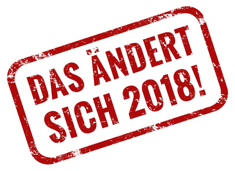 Änderungen 2018