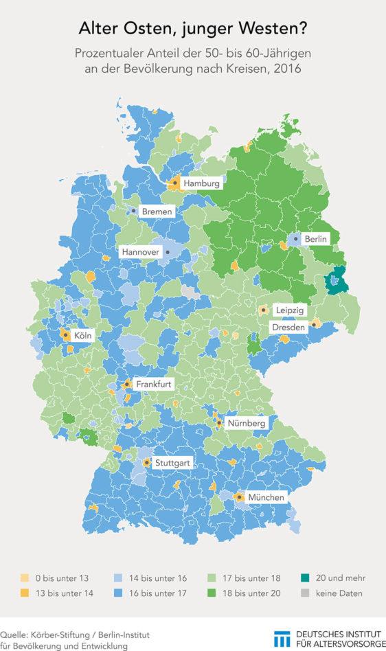 Anteil der über 65-Jährigen in den Bundesländern