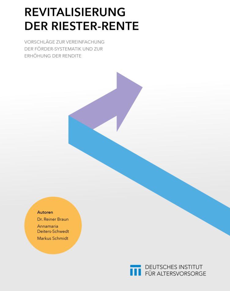 Cover DIA-Studie Revitalisierung der Riester-Rente