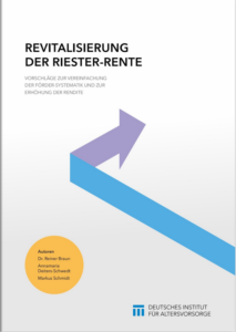 "DIA-Studie ""Revitalisierung der Riester-Rente"""