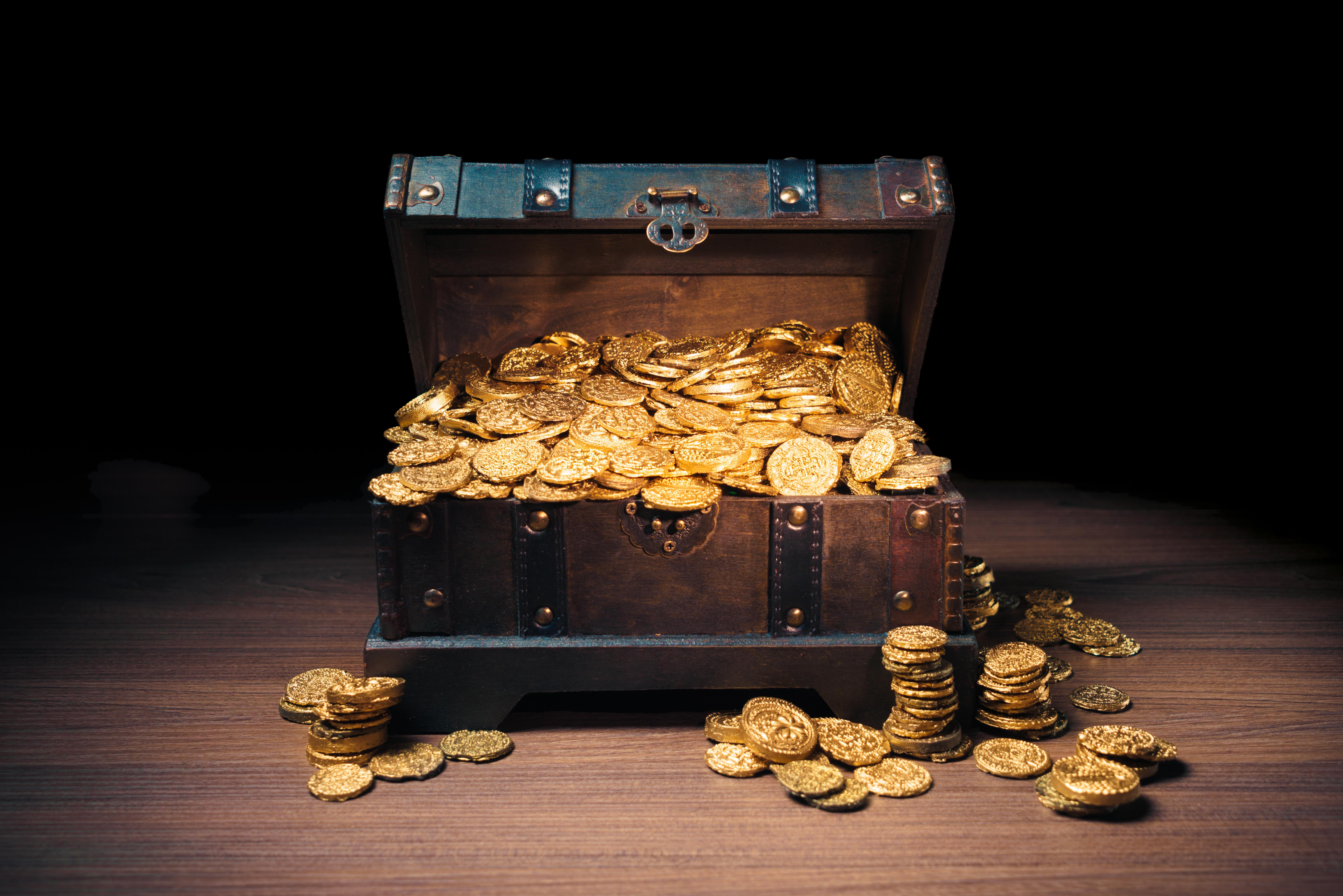 Geld Kredit Schatztruhe