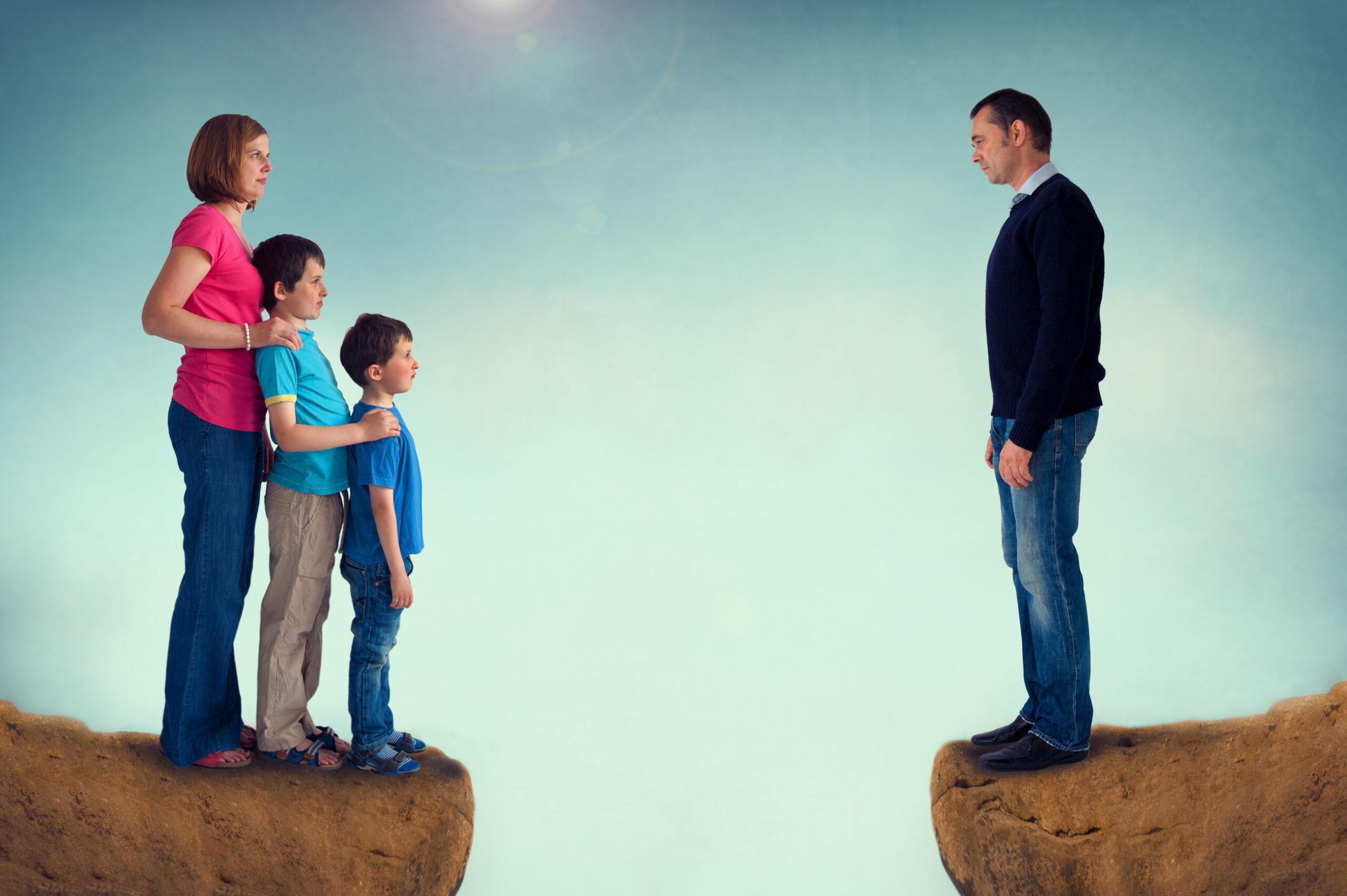Trennung macht Eltern unglücklich